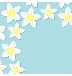 Frangipani Plumeria Tropical flower icon set vector image