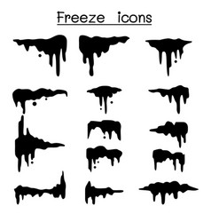 frozen cool icon set vector image
