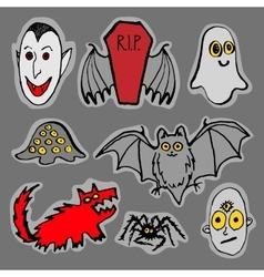 Funny Halloween monsters vector image