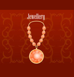 garnet jewellery concept background realistic vector image
