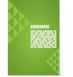 Green background for brochure or cover vector image