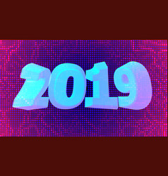 happy new year 2019 holiday vector image