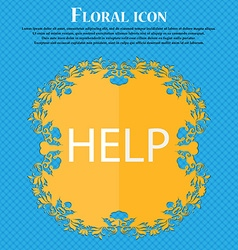 Help point sign icon Question symbol Floral flat vector