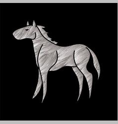 Horse standing cartoon graphic vector