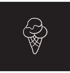 Ice cream sketch icon vector image vector image