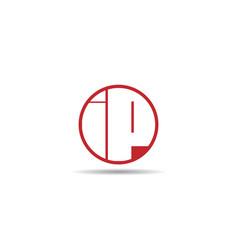 Initial letter ip logo template design vector