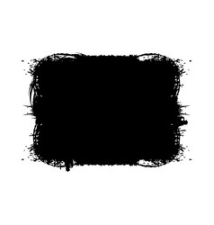 ink or acrylic black paint brush hand made vector image