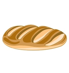 Long loaf of bread vector