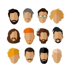 Male avatar icons set People characters in vector