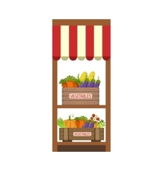 Market Vegetable Shelf vector image