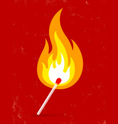 match fire vector image