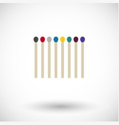 Matchsticks flat icon vector