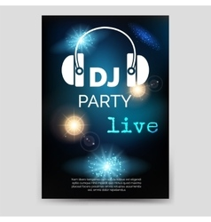 Music party brochure flyer template vector image