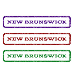 New brunswick watermark stamp vector