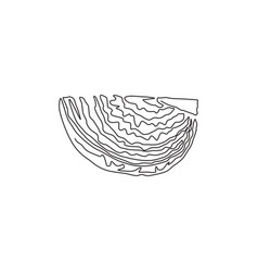 one single line drawing cut sliced healthy vector image