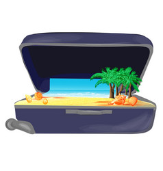 opened suitcase vector image