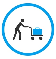 Passenger Trolley Rounded Icon vector