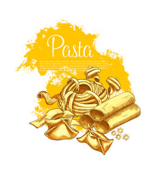 pasta poster for italian restaurant vector image