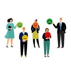 people and smiley ranking vector image