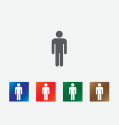 People pictogram icons vector image