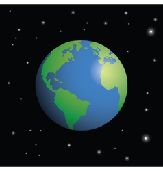 Planet earth surrounded by stars vector