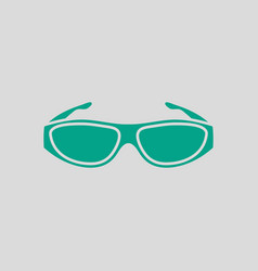 Poker sunglasses icon vector