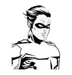Portrait super hero strong male justice symbol vector