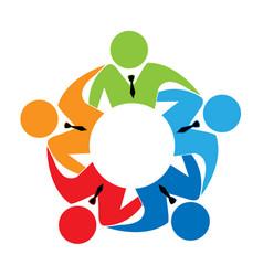 professional businessman team logo icon vector image