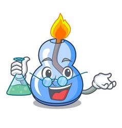 Professor alcohol burner character cartoon vector