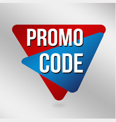 promo code label or sticker vector image