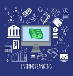 sending and receiving money vector image