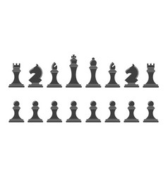 Silhouettes of chess pieces vector