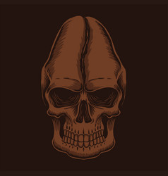 skull head coffee vector image