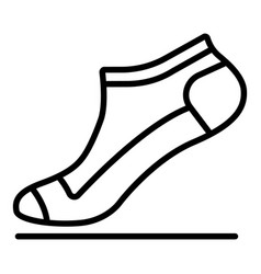 small sock icon outline style vector image