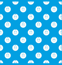 smiling fruit pattern seamless blue vector image