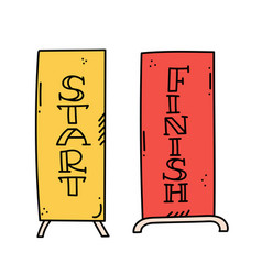 Start and finish banner vector