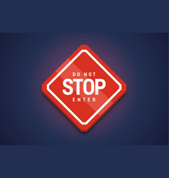stop do not enter sign vector image
