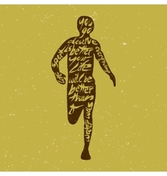 Typography lettering runner vector image