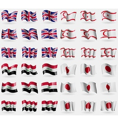 United kingdom turkish northern cyprus iraq japan vector