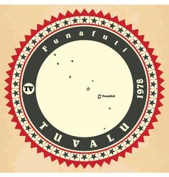 Vintage label-sticker cards of Tuvalu vector image vector image