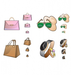 web store accessory icons vector image