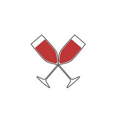 Wine cheers vector