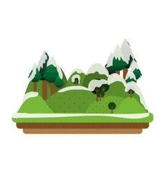 Winter landscape icon vector