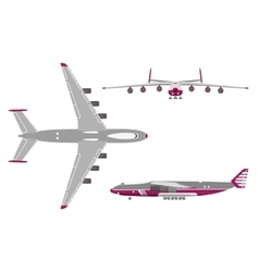 Airplane in a flat style on white background vector image