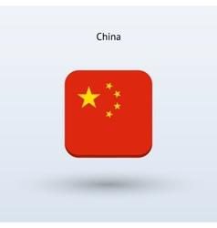 China flag icon vector image