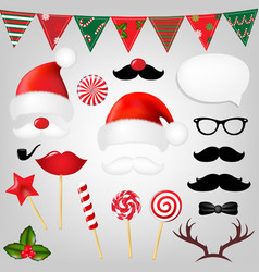 christmas hipster set vector image vector image