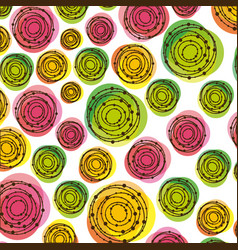 color abstracts bubbles background icon vector image