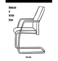 office chair in a contour on a white background vector image vector image
