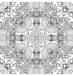Pretty kaleidoscope background with floral designs vector image vector image