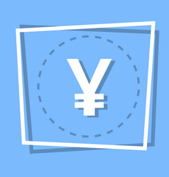 yen sign icon currency web button vector image vector image